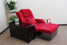 足疗沙发(A-10黑钛金边)